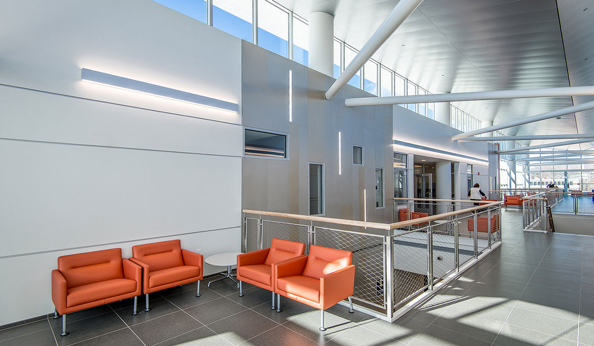 university commercial flooring and wall panels