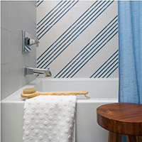 Boreal blue and white striped porcelain tile
