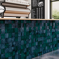 Crossville Convergence Glass blue wall tile